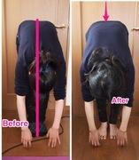 前屈 屈折時の左への傾き 体軸矯正