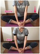 股関節 トレーニング後、床と平行に
