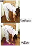立位前屈側面から 背骨全体の柔軟力チェック