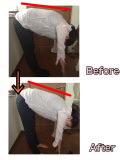前屈 背骨柔軟力と湾曲角度チェック 柔軟性が増しました