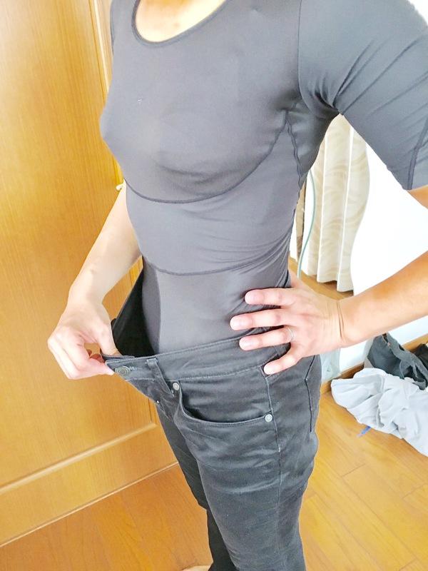 骨盤周り16㎝ダウン!ウエスト15㎝ダウン!妊娠前にはいていたジーンズがするっと!